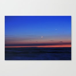 Cresent & Venus Setting Decor. Canvas Print