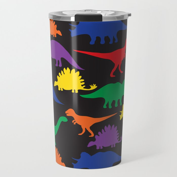 Dinosaurs - Black Travel Mug