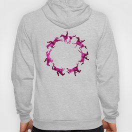 Showjumping Horse Sequence (Magenta) Hoody