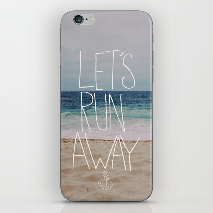Let's Run Away: Sandy Beach, Hawaii iPhone Skin