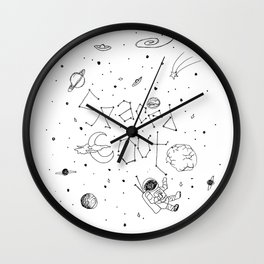 Spaced Out (White) Wall Clock