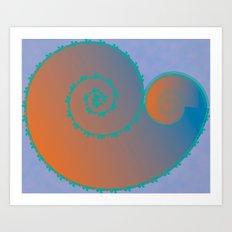 Koral Koru Art Print
