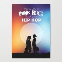 punk rock Canvas Prints featuring Punk Rock by jeswri