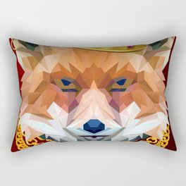 The King of Foxes Rectangular Pillow