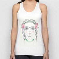 frida kahlo Tank Tops featuring frida kahlo by Lisa Bulpin