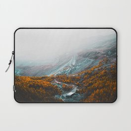 Aerial View Of Orange Autumn Forest Appalachian Mountains Laptop Sleeve