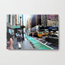 Rainy Manhattan  Metal Print
