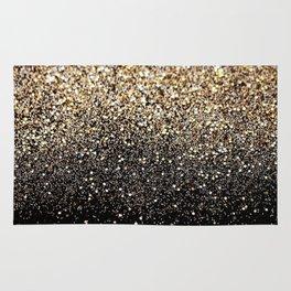 Black & Gold Sparkle Rug