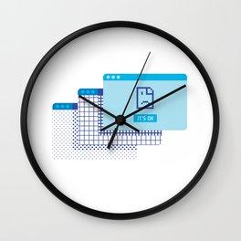 Its Ok Sad Face Office Humor Wall Clock