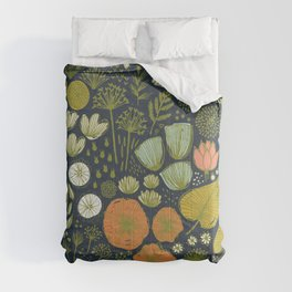 Botanical Sketchbook M+M Navy by Friztin Comforters