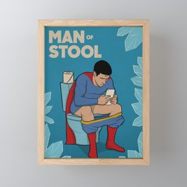 Man of Stool Framed Mini Art Print