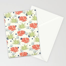 Succulent Pattern. no1 Stationery Cards