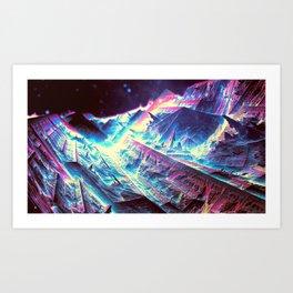 Neon Valley Art Print