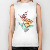 rush Biker Tanks featuring Triangle Rush! by Hungry Design