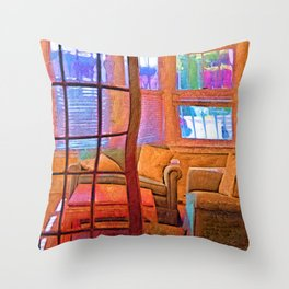 Sun Porch Throw Pillow