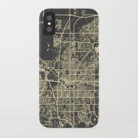 denver iPhone & iPod Cases featuring Denver map by Map Map Maps