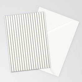 Pussy Willow Pinstripe on White Stationery Cards