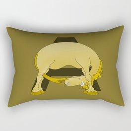 Pony Monogram Letter A Rectangular Pillow