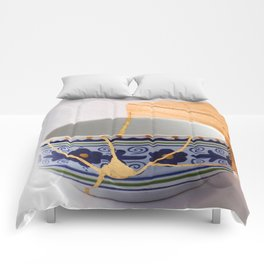 Kintsuqi Bowl #1 Comforters