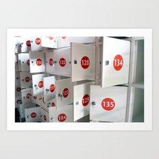 Lockers Art Print