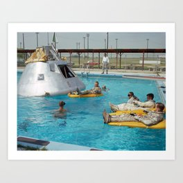 Apollo 1 - Relaxing by the Swimming Pool Art Print