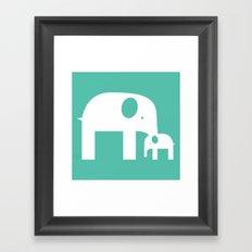 Blue Elephants Framed Art Print
