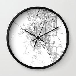 Minimal City Maps - Map Of Colorado Springs, Colorado, United States Wall Clock