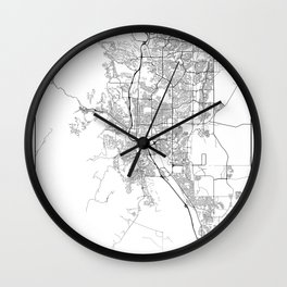 Minimal City Maps - Map Of Colorado Springs, Colorado, United States Wall Clock