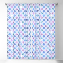 Colorful Glittery Polka Dots Blackout Curtain