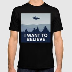 My X-files: I want to believe poster Mens Fitted Tee X-LARGE Black
