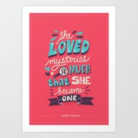 paper towns Art Prints featuring Paper Towns: Mysteries by Risa Rodil