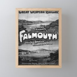 retro classic GWR Falmouth poster Framed Mini Art Print