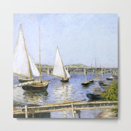"""Gustave Caillebotte """"Sailing Boats at Argenteuil"""" Metal Print"""