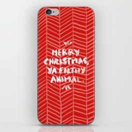 Merry Christmas, Ya Filthy Animal – Red iPhone Skin