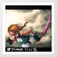 zidane Art Prints featuring Zidane by Carlos Canessa