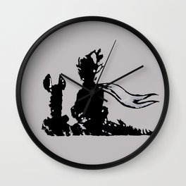 The little prince and the fox - stencil for the LIFE CURRENT WALL series Wall Clock