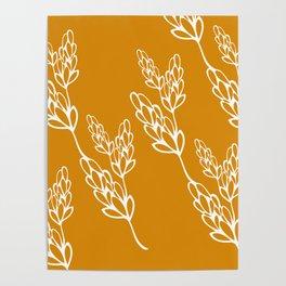 botanical lines Poster