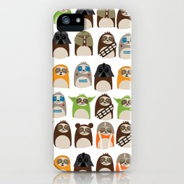 Science Fiction Sloths iPhone Case