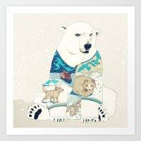 polar bear Art Prints featuring Polar Bear by Yuliya