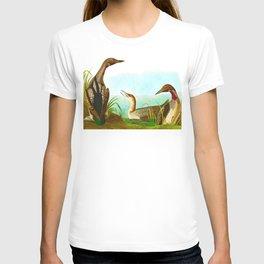 Black-throated loon Bird John Audubon Vintage Scientific Bird Illustration T-shirt