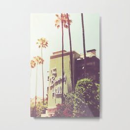 Art & Collectibles, Photography, Color, Hollywood Sign, Hollywood, Large LA Print, Palm Tree Print, Metal Print