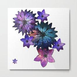 Space Flowers Metal Print