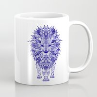 lion Mugs featuring LIon by Monika Strigel
