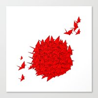 japan Canvas Prints featuring japan by Sophie Rousseau