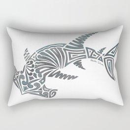 Tribal Hammerhead Shark Rectangular Pillow