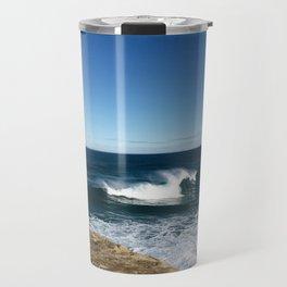 New Zealand Beach Wave Travel Mug
