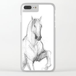 Horse (Siwy / Silver) Clear iPhone Case