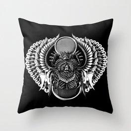 Egyptian Scarab Throw Pillow
