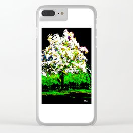TREE OF THE MORNING LIGHT Clear iPhone Case