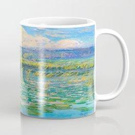 Václav Radimský (1867-1946) Windy Day Impressionist Landscape Oil Painting Coffee Mug